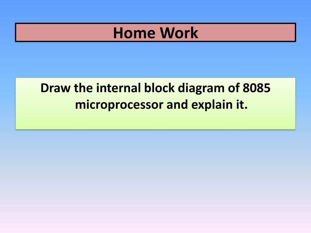 Draw the internal block diagram of 8085 microprocessor and explain it.