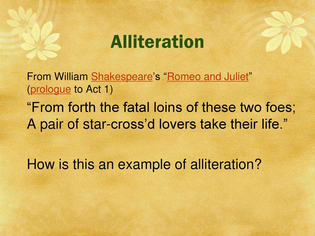 Examples Of Alliteration In Romeo And Juliet Choice Image Example