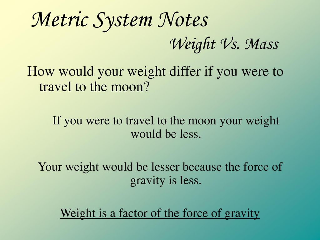 metric system notes introduction - ppt download