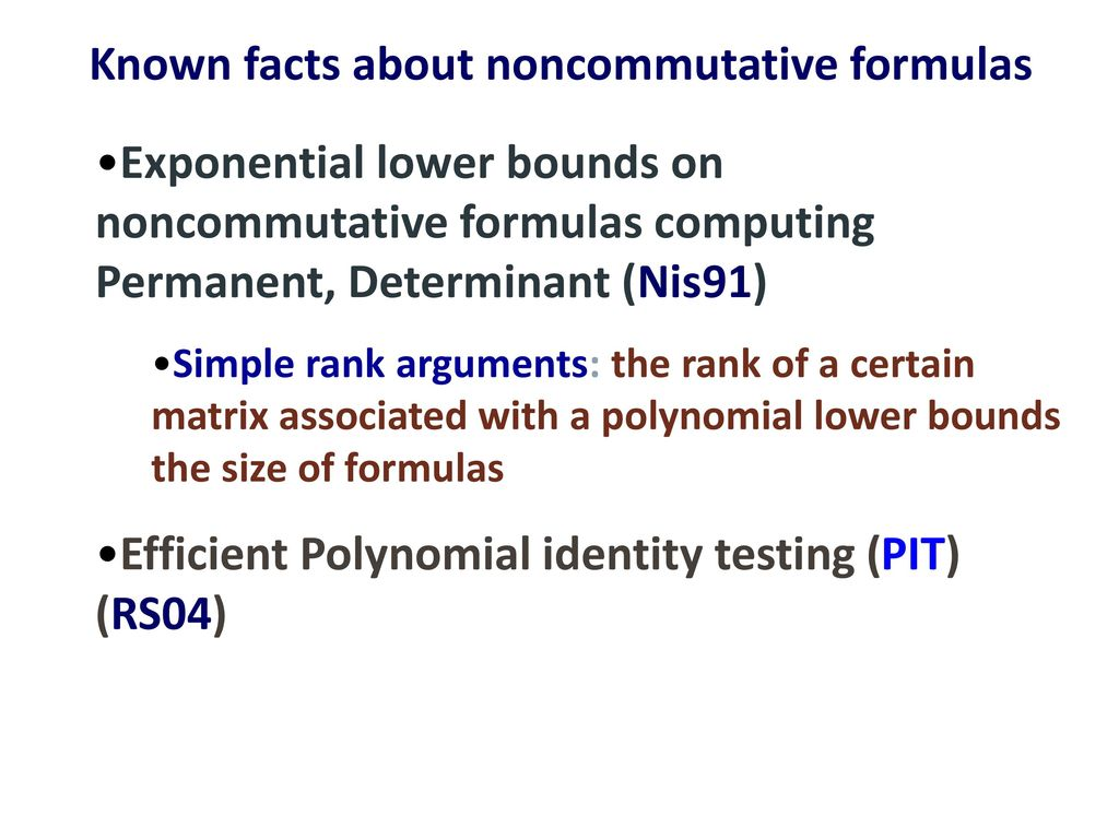 Algebraic Proofs over Noncommutative Formulas - ppt download