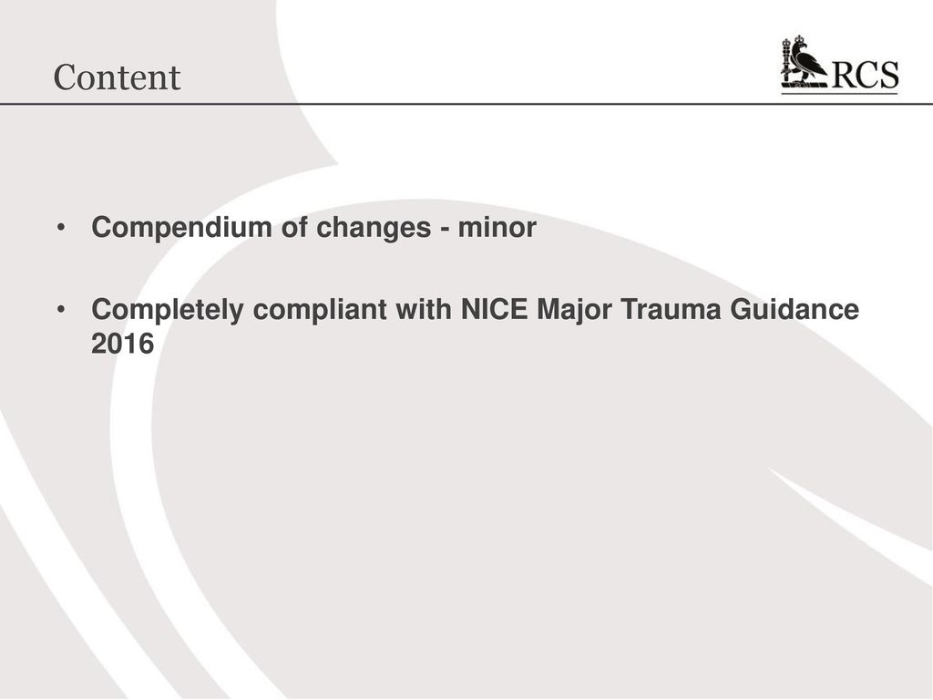 Atls 10th edition update the new course ppt download content compendium of changes minor fandeluxe Image collections