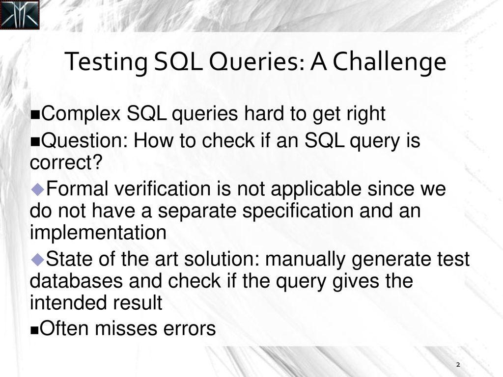 1 Generating Test Data for Killing SQL Mutants: A Constraint
