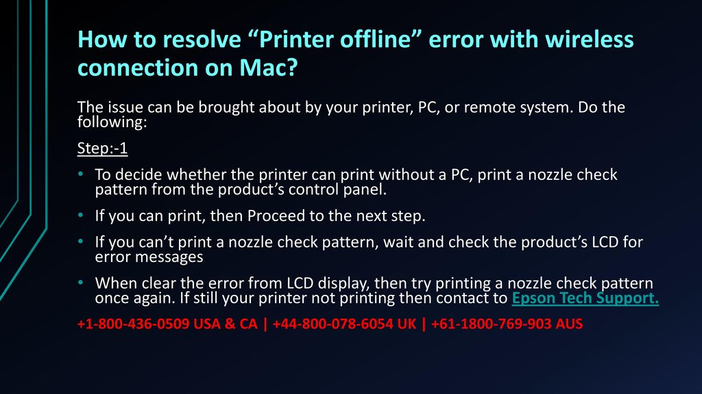Printer In Use Error Mac