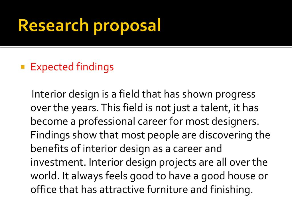 8 Research proposal Expected findings