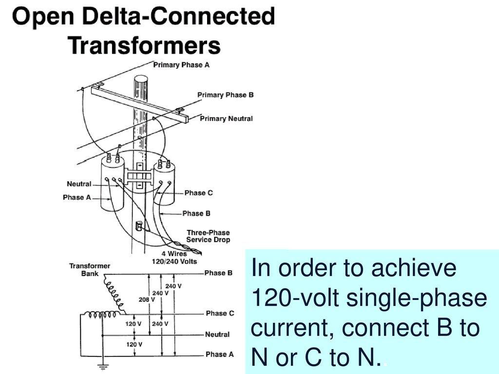 120 240 Volt Wiring Diagram Delta Transformer Identifying Basic Principles Of Electricity Ppt Download 41 In Order To Achieve Single Phase Current Connect B N Or C