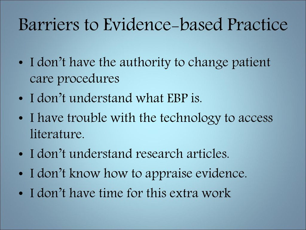 advanced research methods: evidence-based practice essay Read this essay on research and scholarship evidence-based practice evidence-based practice demands changes in education of students, more practice-relevant research, and closer working relationships between clinicians and researchers.