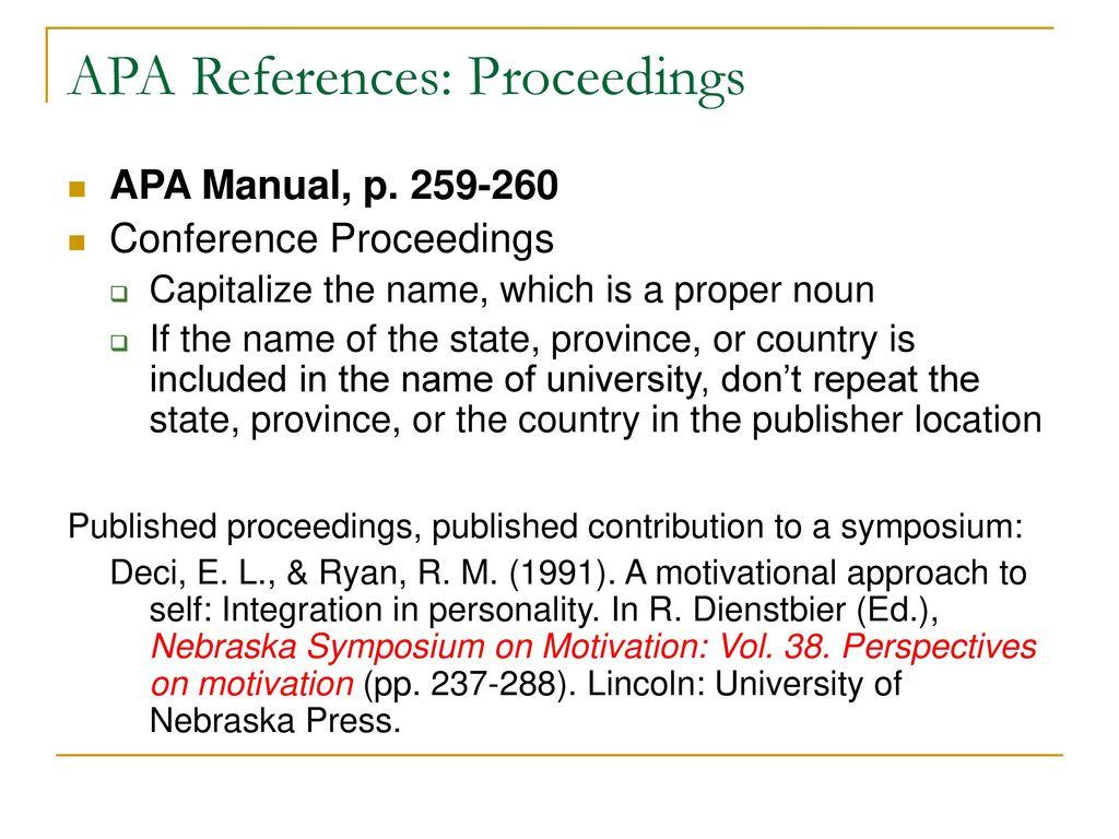 ALEC 681: Seminar APA Style: References. - ppt download