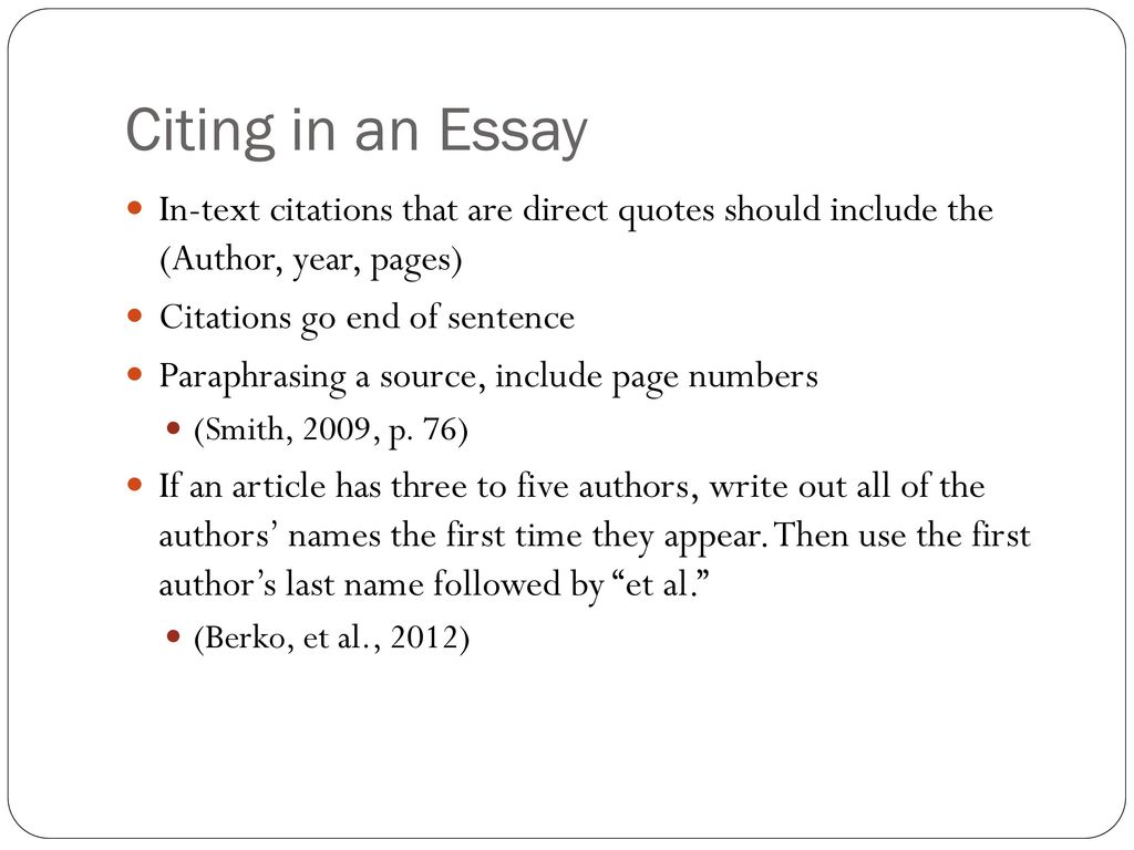 How To Write Author Name In Essays