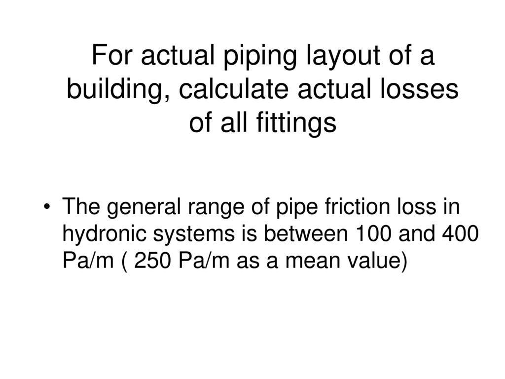 Plumbing Systems Ppt Download Piping Layout Pictures For Actual Of A Building Calculate Losses All Fittings