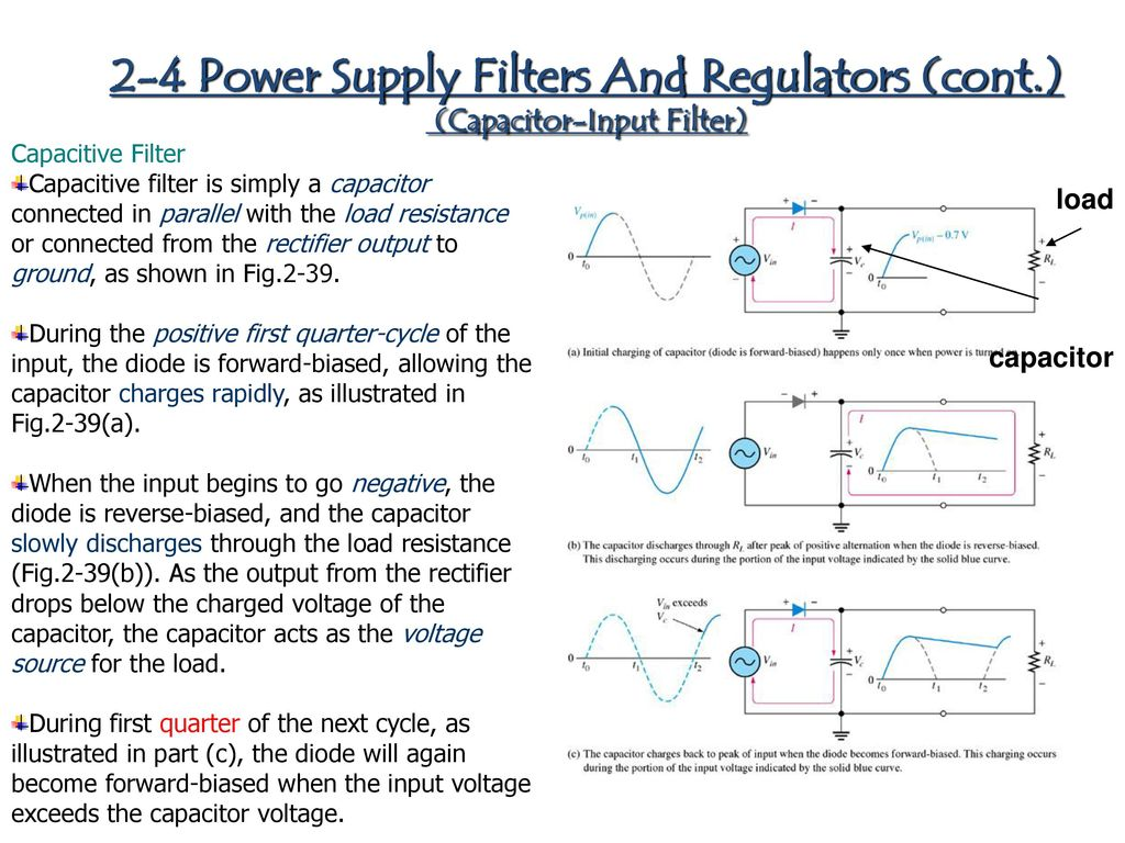 Chapter 1 Diode Applications Ppt Download Bias Understand This Filter And Biasing Circuit Electrical 2 4 Power Supply Filters Regulators Cont