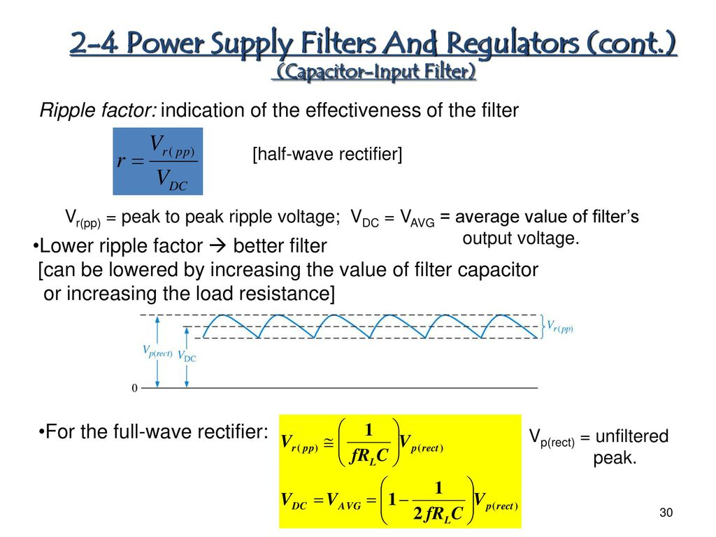 Chapter 1 Diode Applications Ppt Download Linear Acdc Power Supply With Transformer Rectifier Smoother And 2 4 Filters Regulators Cont