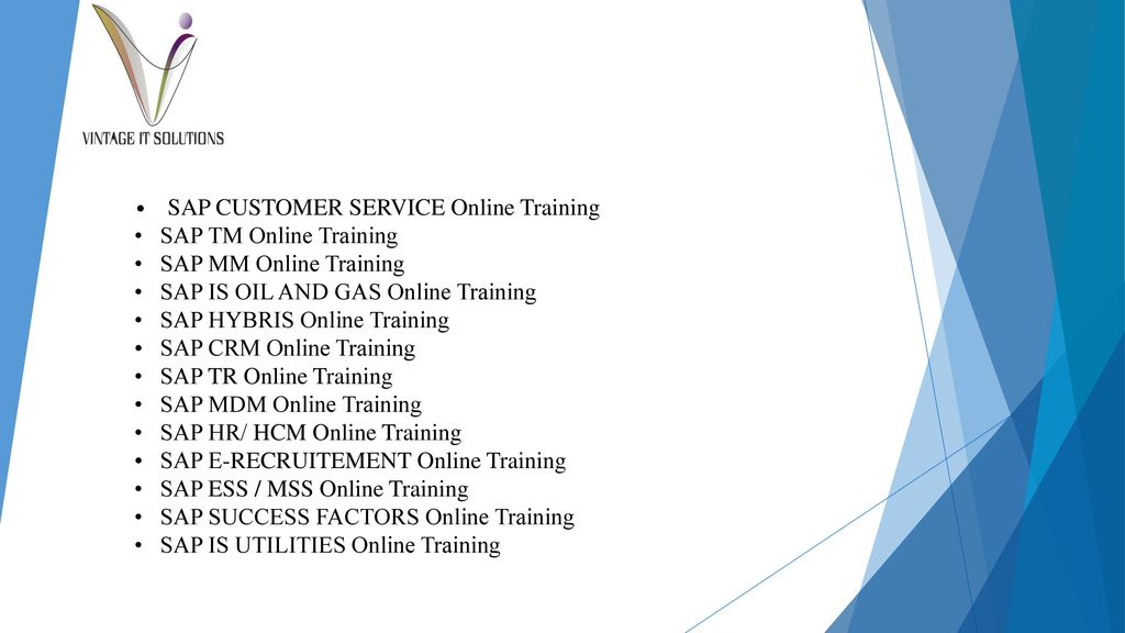SAP ONLINE TRAINING AT SAPVITS - ppt download
