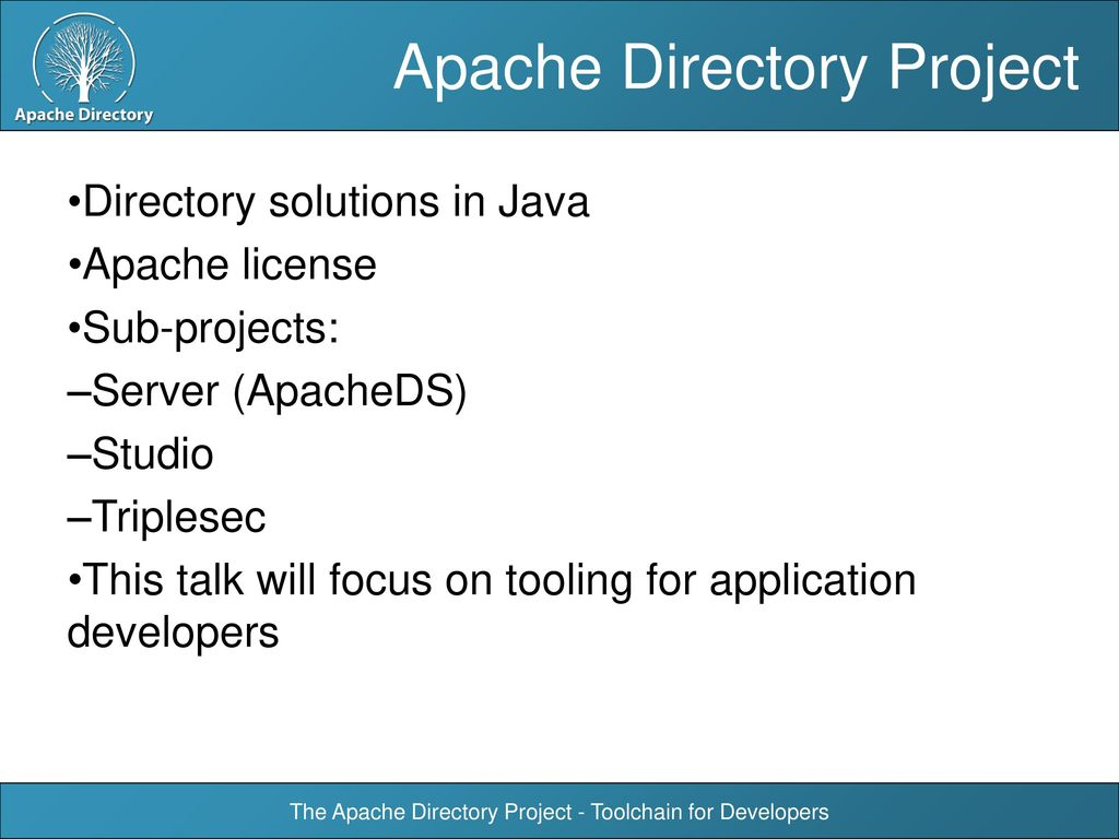 The Apache Directory Project - Toolchain for Developers