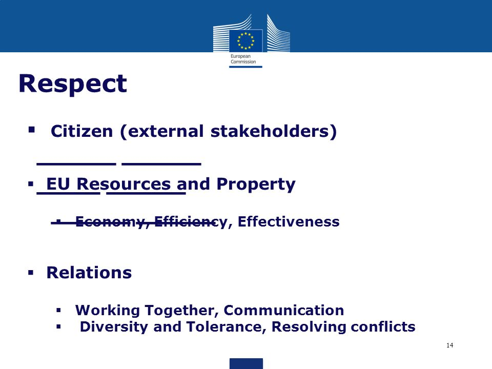 Respect EU Resources and Property Relations
