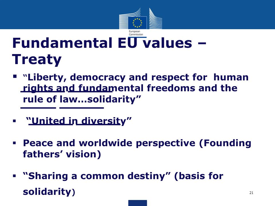 Fundamental EU values – Treaty