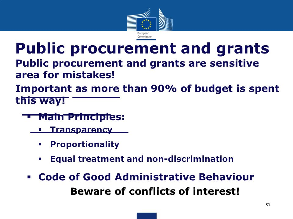 Public procurement and grants