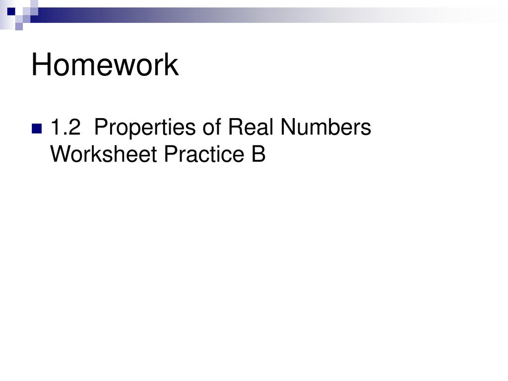 12 Properties Of Real Numbers Ppt Download