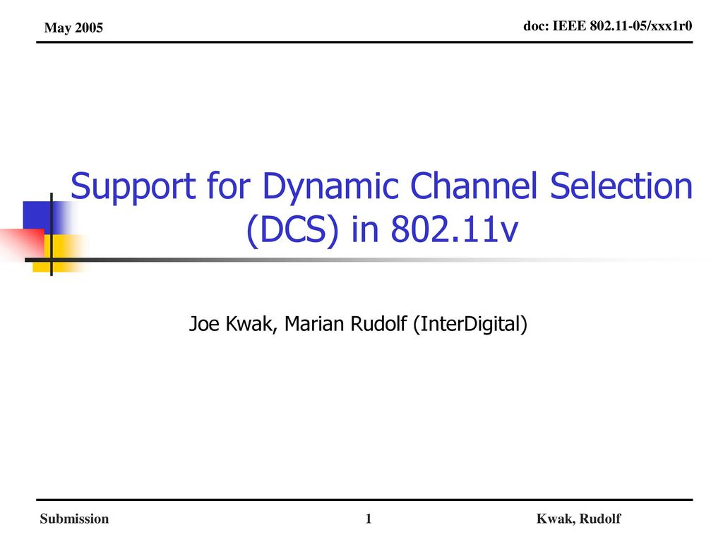 support for dynamic channel selection dcs in v ppt download