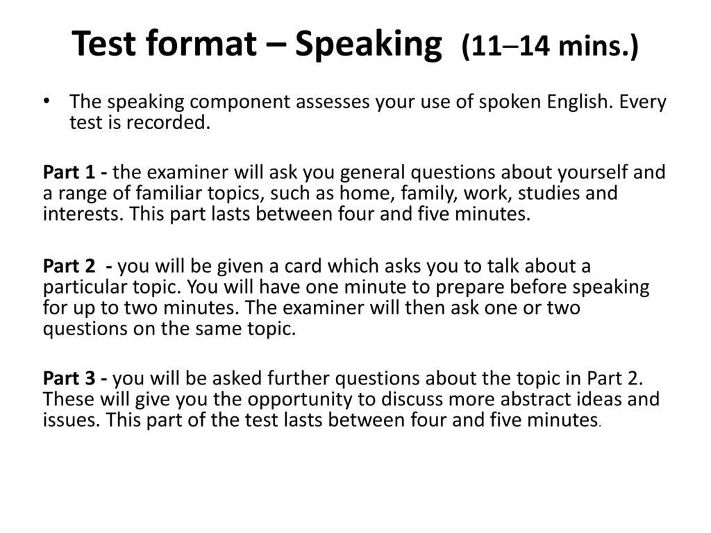 two minute talk topics