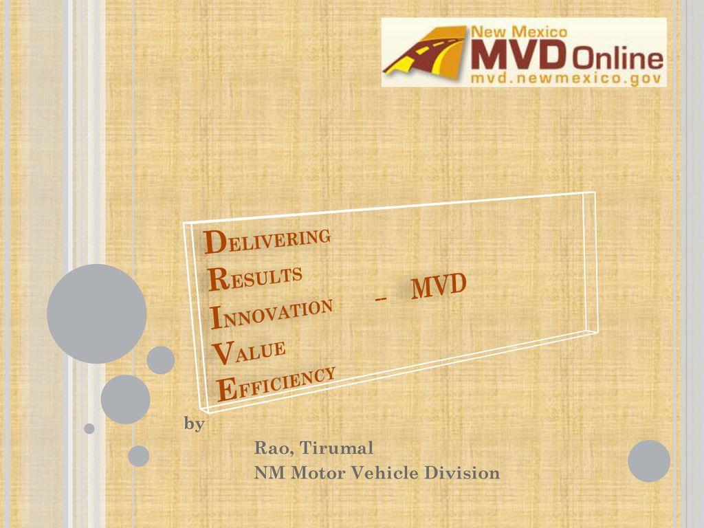 Delivering Results Innovation Mvd Value Efficiency Ppt Download
