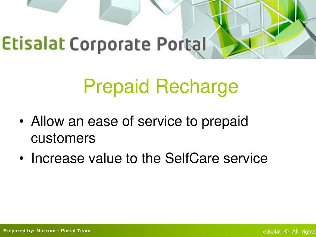 Etisalat Corporate Portal ppt download