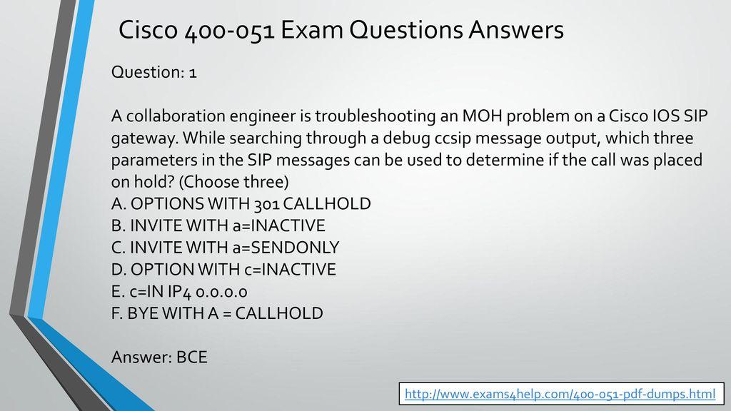 Cisco Exam Questions Dumps - ppt download