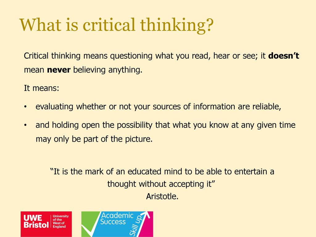 what is critical thinking mean