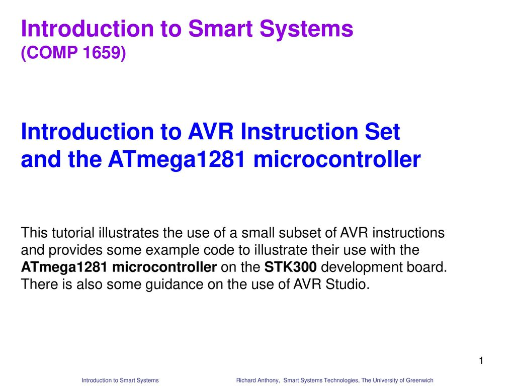Introduction To Smart Systems Ppt Download