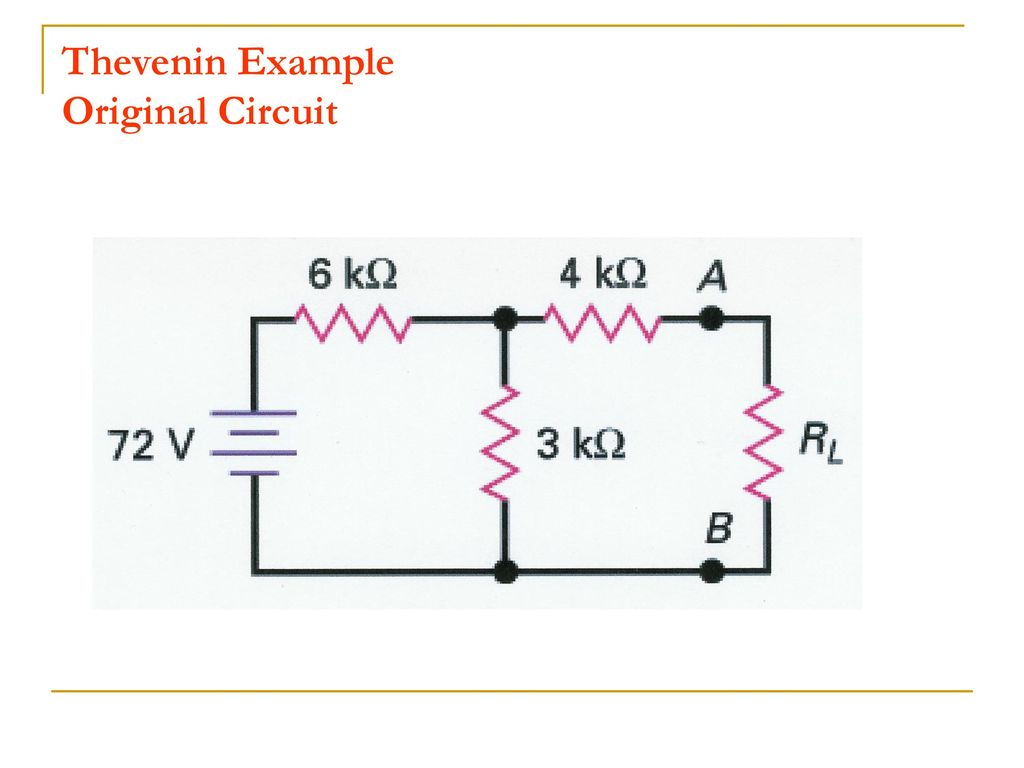 Analysis Of Resistive Circuits And Revision Ppt Download Thevenin Example 19 Original Circuit