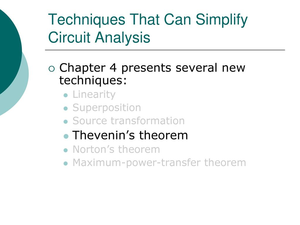 Egr 2201 Unit 6 Theorems Thevenins Nortons Maximum Power Circuit Example Solved Problems Based On Thevenin Theorem Techniques That Can Simplify Analysis