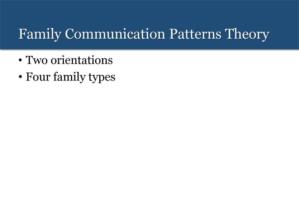 Family Communication Patterns Theory Cool Inspiration