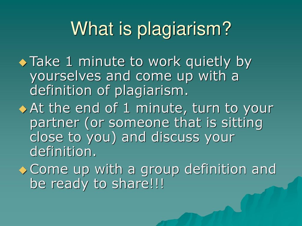plagiarism/cheating!! don't do it!!. - ppt download