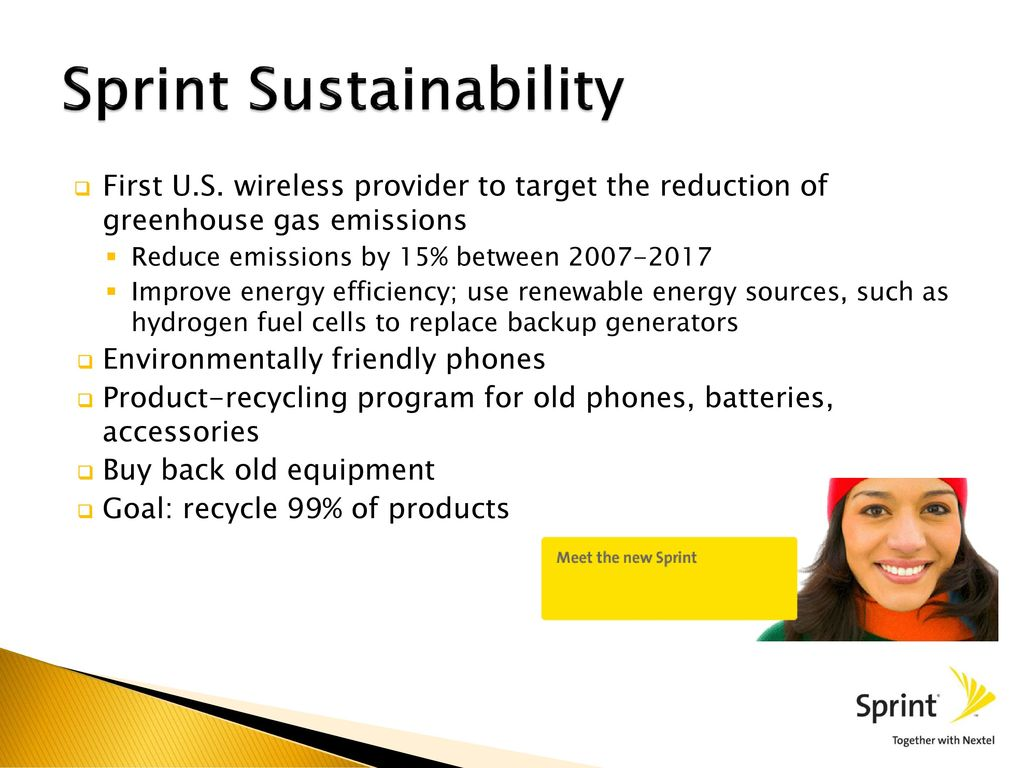 Sprint Nextel All Things Green  - ppt download