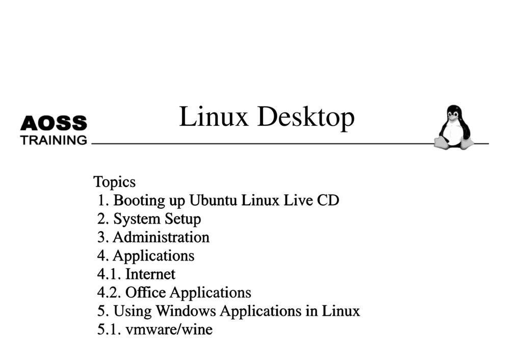 Linux Desktop Topics 1  Booting up Ubuntu Linux Live CD