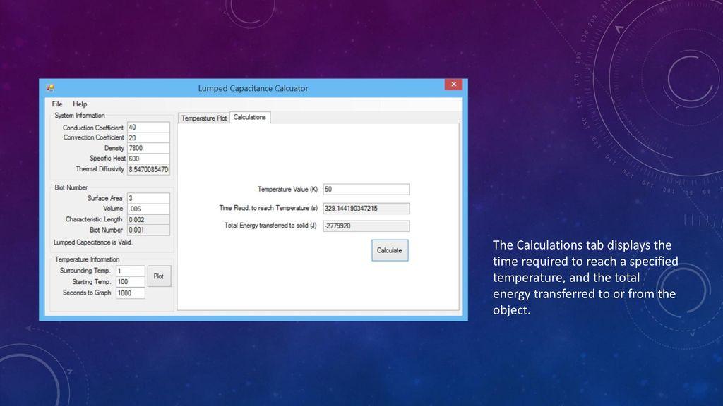 Lumped Capacitance Calculator - ppt download