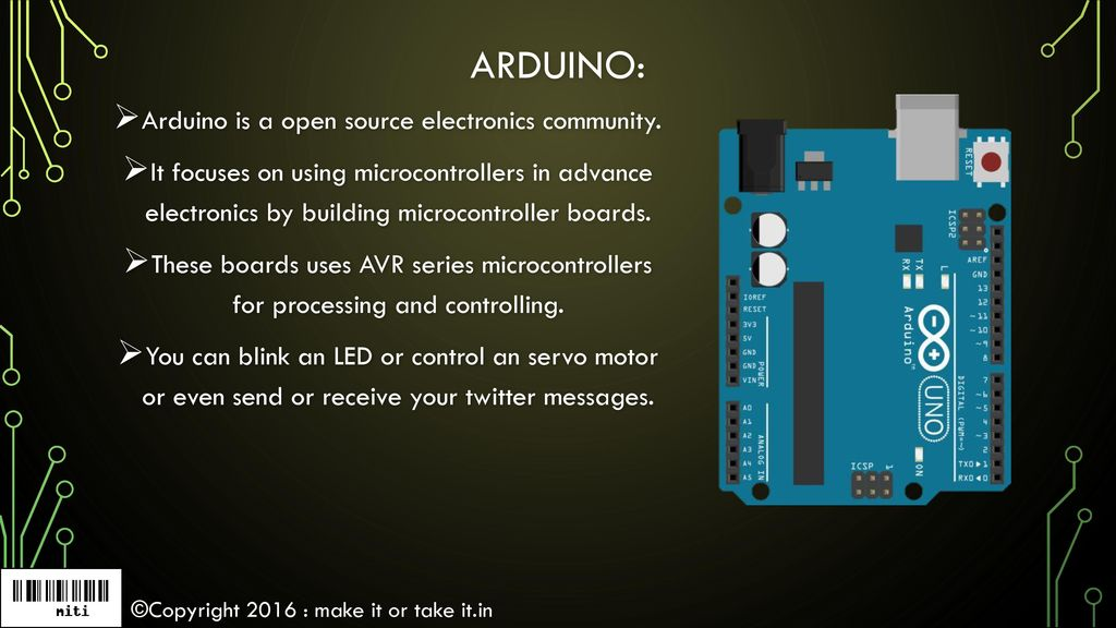 Home automation using Arduino & 'PIR sensor' - ppt download