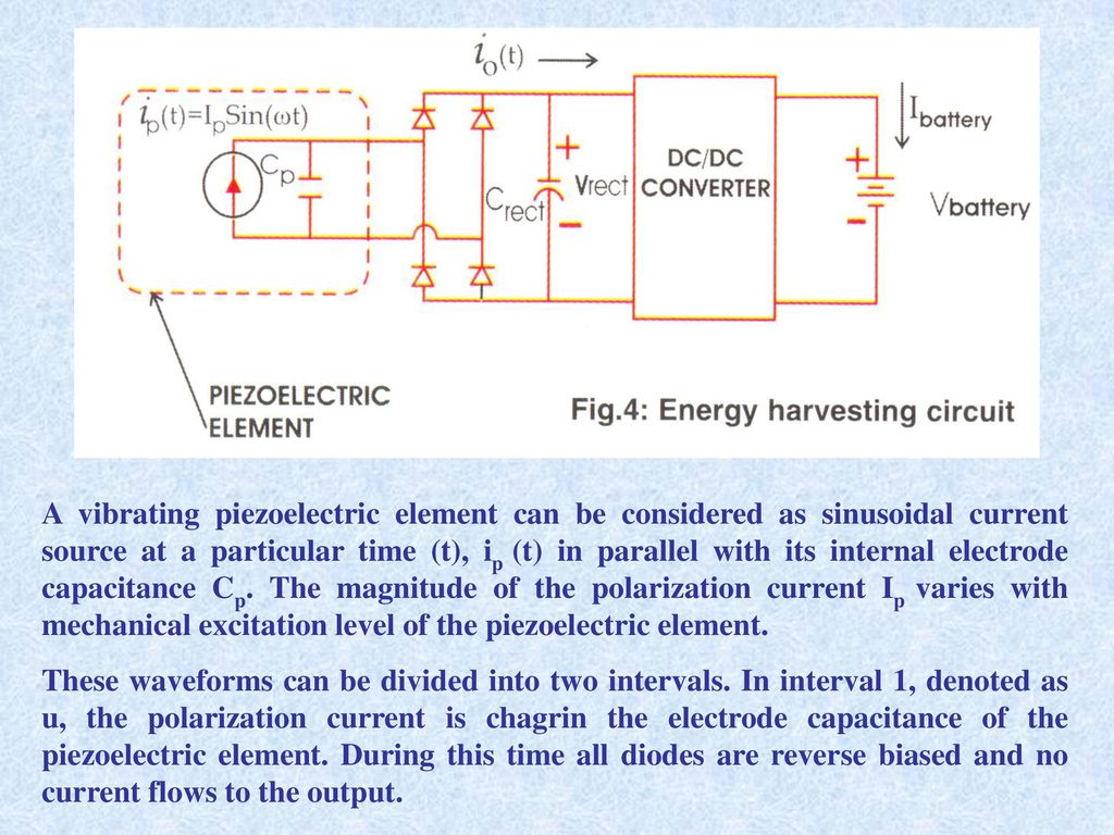 Piezoelectric Energy Harvesting For Ppt Download Circuit A Vibrating Element Can Be Considered As Sinusoidal Current Source At Particular Time