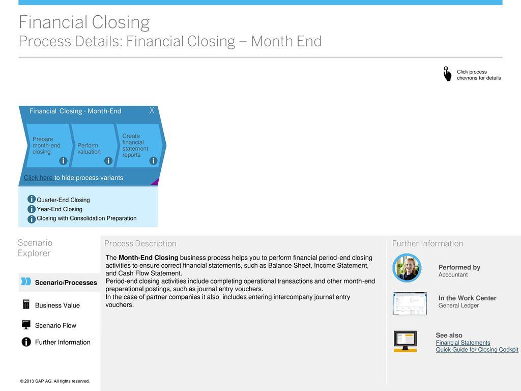 Financial Closing Scenario Overview - ppt download