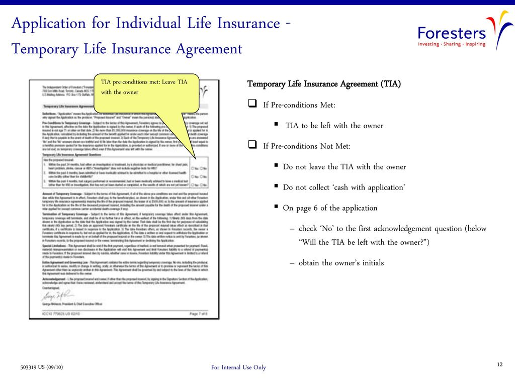 Guide To Completing A Foresters Life Insurance Application Big
