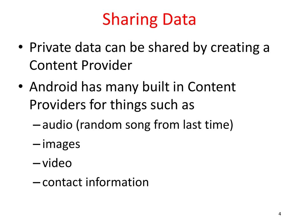 Android Application Data Storage ppt download