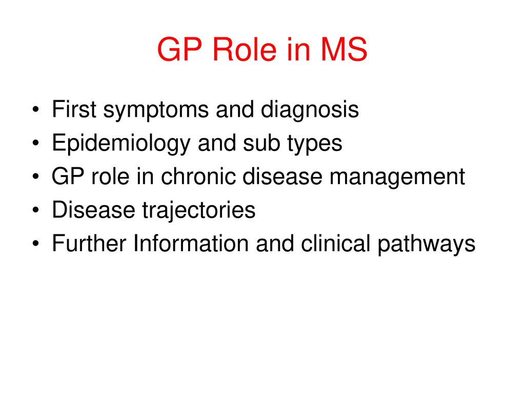 Multiple Sclerosis GP Role - ppt download