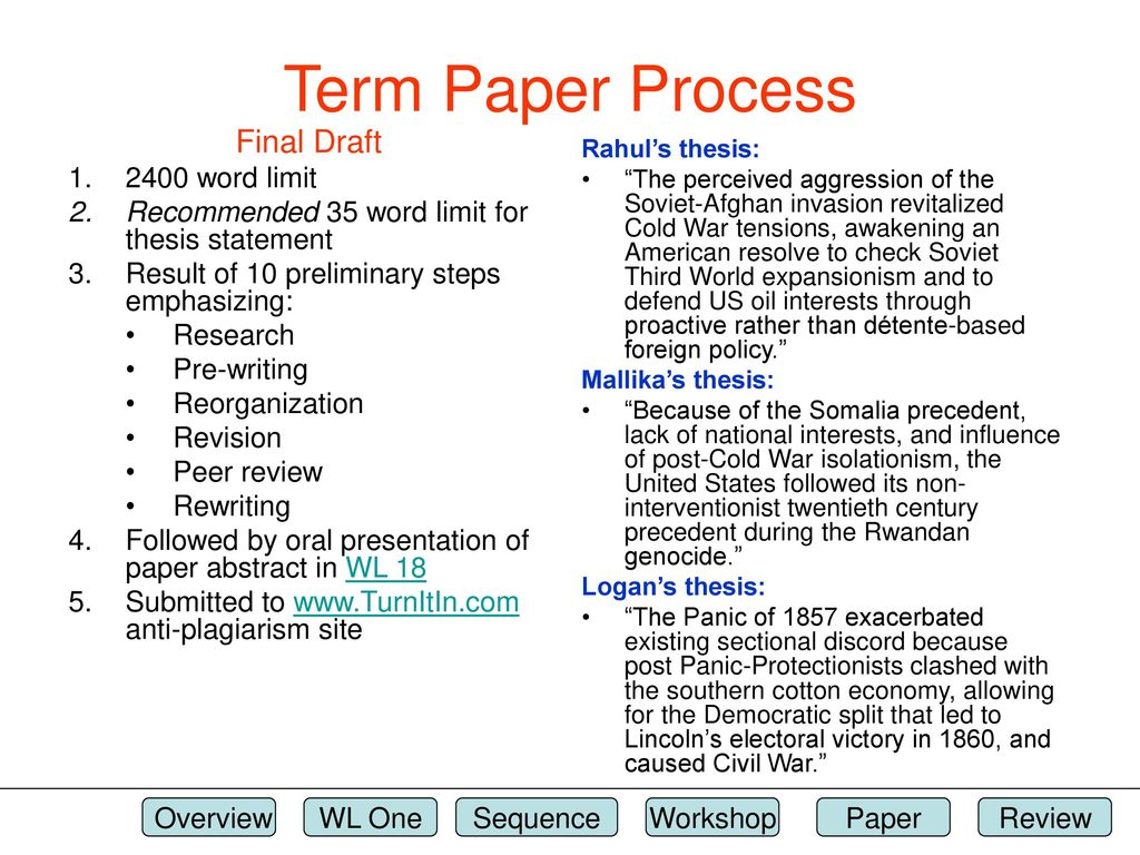 term paper abstract