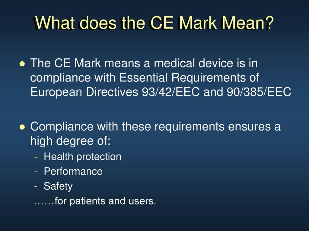Regulatory Basics Europe And The Ce Mark Ppt Download