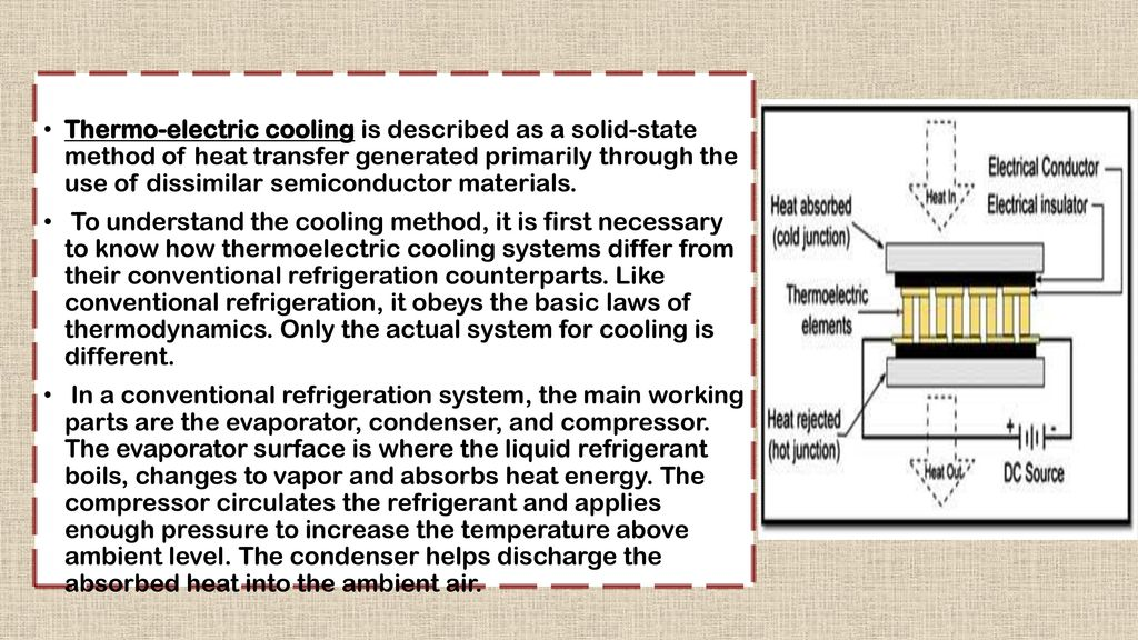 Thermo-electric refrigeration  - ppt download