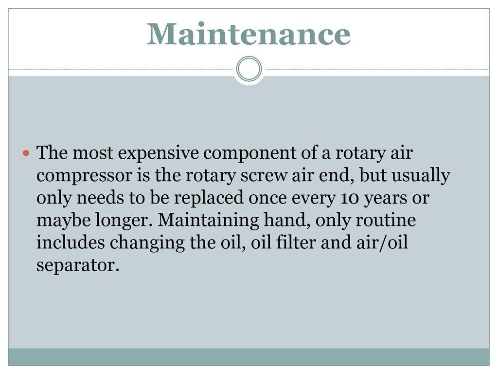 Advantages & Disadvantages of Rotary Screw Air Compressors