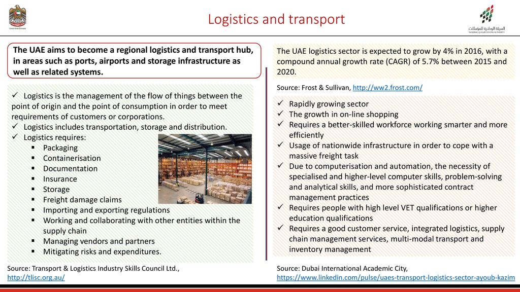 Logistics and Transport Sector in the UAE - ppt download