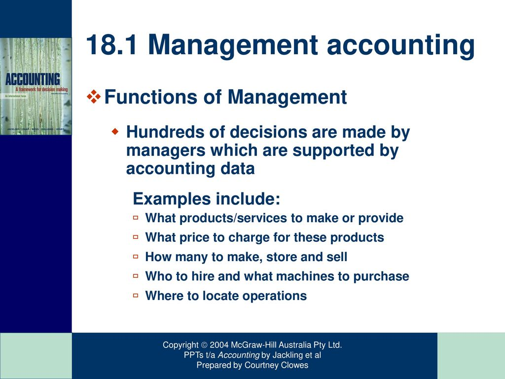Managerial Decision Making And The Accountant Ppt Download