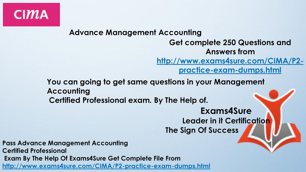 CIMA P2 Advanced Management Accounting  - ppt download