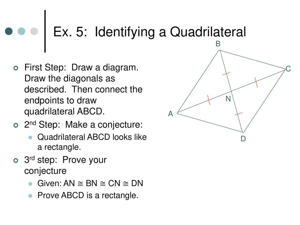 66 special quadrilaterals ppt download ex 5 identifying a quadrilateral ccuart Gallery
