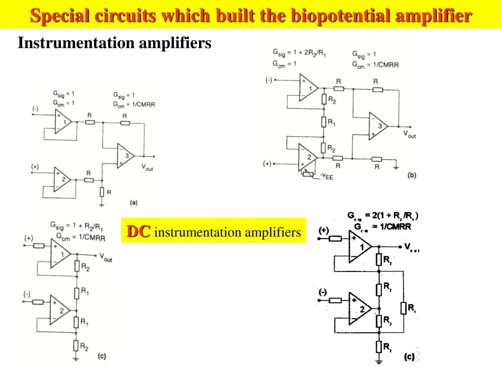 Three Types Electrodes Are Used For Sensing Of Emg Signals Ppt Instrumentation Amplifier Circuit Diagram Special Circuits Which Built The Biopotential